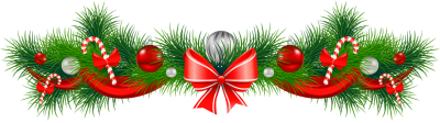 Transparent_Christmas_Pine_Garland_Red_Bow_PNG_Clipart.png